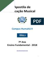 Apostila de Educação Musical 7º Ano 2018