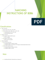 5 MICROPROCESSOR 8086 Branching Instruction