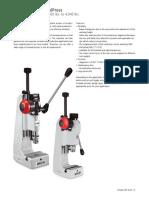 Mechanical handpress