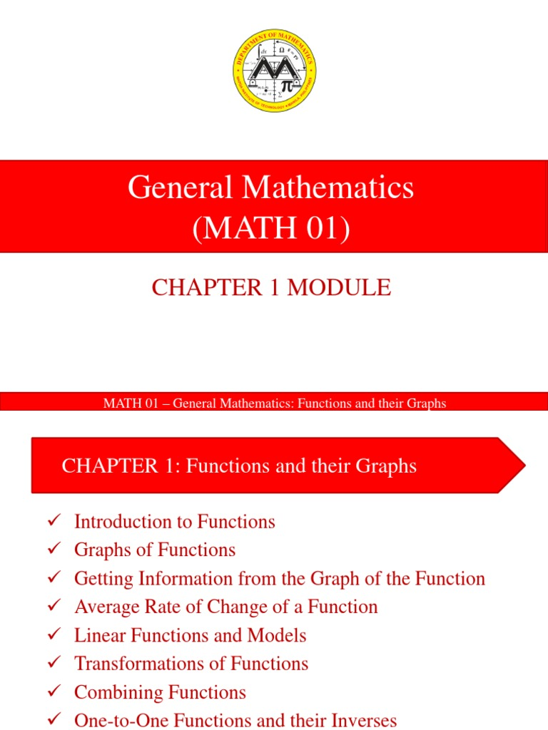 MATH 01 Lesson 1 Functions and their Graphs.pptx | Function (Mathematics) |  Set (Mathematics)