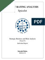 SpceJet Analysis