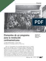 Elementos de un programa para la revolución centroamericana