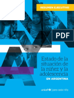 Estado de la situacion de la niñez y adolescencia en Argentina