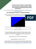 Manifesto anarco transumanista