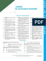 Alliages de Nickel Résistant à La Corrosion Humide Fiche