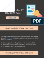IIT JAM Registration Process For 2020 Exam