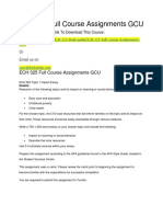 ECH 325 Full Course Assignments GCU