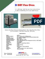 flux oven brochure