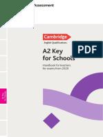 CER 6188 V1 MAR19 A2 Key for Schools Handbook 2020 an WEB