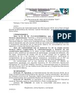 Resolución Directoral Calendarizacion