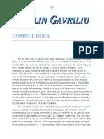 Catalin Gavriliu - Domnul Dima 10 '{Literatura}