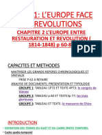 L'EUROPE ENTRE REVOLUTION ET RESTAURATION