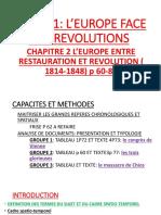 L'EUROPE ENTRE REVOLUTION ET RESTAURATION