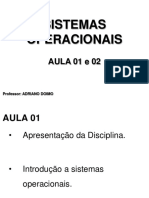 SO-I - Aula 01 e 02 - Prof. Adriano