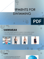 Equipments for Swimming
