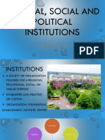 Chapter 6 - Cultural, Social and Political Institutions