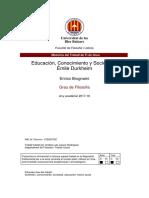 Educación, Conocimiento y Sociedad Émile Durkheim