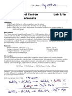 Lab 3-1a, Mass Percent of Carbon in Sodium Bicarbonate (Key)