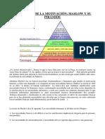 T Objetivos - Piramide de Maslow - Una Teoría de la Motivación