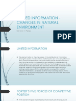 Limited Information - Changes in Natural Environment