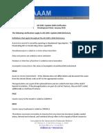 AAAM AIS Clarification Document