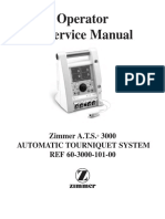 Zimmer a.t.s 3000 service user Manual
