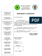 Brgy. Certificate