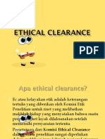 etichal clearence