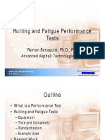 rutting and fatigue performance test