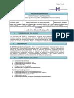 Programa de E 259 Métodos de Investigación