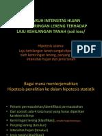 Menterjemahkan Hipotesis Penelitian Ke Dalam Hiptesis Statistik