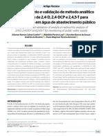 Desenvolvimento e Validação de métodos analiticos
