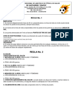 Modificaciones Reglas de Microfutbol