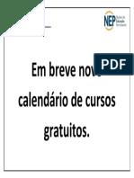 Em Breve Novo Calendario de Cursos Gratuitos
