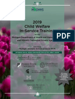 2019 Child Welfare In-Service Training for the Michigan Department of Health and Human Services and MDHHS-Contracted Private Agencies