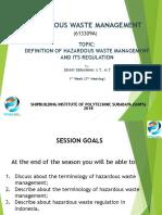 Ib Hazardous Waste Management - HWM 2019