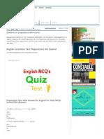 preposition Mcqs
