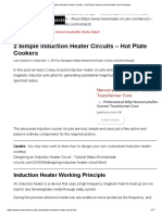 2 Simple Induction Heater Circuits - Hot Plate Cookers _ Homemade Circuit Projects