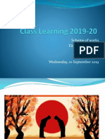 Class Learning 2019-20