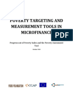 Mfg en Paper Poverty Targeting and Measurement Tools in Microfinance Progress Out of Poverty Index and the Poverty Assessment Tool Oct 2010