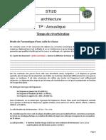TP Formule de Sabine Et Td Acoustique