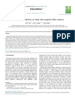Marine Drag Reduction of Shark Skin Inspired Riblet Surfaces
