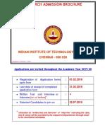 IIT Madras PHD Brouchers