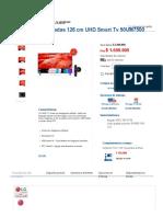 TV LG 50_ Pulgadas 126 Centimetros UHD Smart Tv 50UM7500 Alkosto Tienda Online