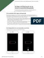 Si El iPhone, El iPad o El iPodTouch No Se Encienden o Tienen La Pantalla Bloqueada - Soporte Técnico de Apple