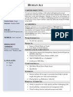 Hassan's CV Old