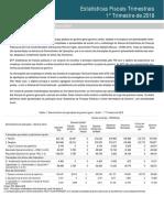 Estatísticas Fiscais Trimestrais 1-2018