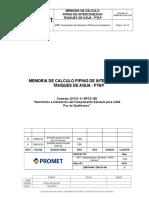 18B04-MC-EM-IS-006 RevB MEMORIA CALCULO PIPING TANQUES AGUA-PTAP.doc