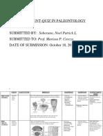 Soberano.assignment Quiz. Paleo Pm Class