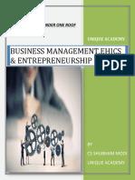 Business management, Ethics and entrepreneurship all definition